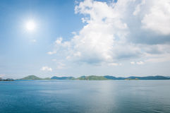 Island and sun light on the sea Royalty Free Stock Photography