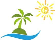 Island, Sun, Palm Tree, Travel Royalty Free Stock Photos