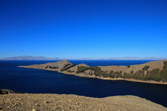 Island of the sun, Titicaca lake, Bolivia royalty free stock photography