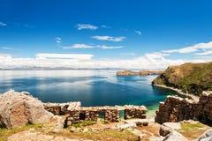 Island of Sun, Titicaca lake, Bolivia Stock Photos
