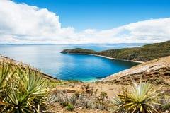 Island of Sun, Titicaca lake, Bolivia Stock Image