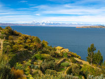 Island of the Sun and Titicaca Lake Stock Images