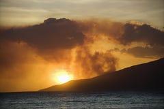 Island sunset. Stock Images