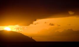 Island sunset Stock Photos
