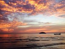Island Sunset Stock Image