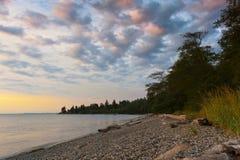 Island Sunset Stock Photo