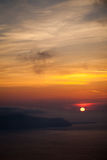 Island Sunset. Misty Sunset over Greek Islands royalty free stock photography