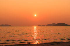 Island in sunset time Royalty Free Stock Photography