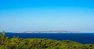 Island Susak in background Stock Images