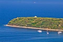 Island of Susak cape church Royalty Free Stock Photos