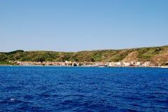 Island Susak near Mali Losinj at adriatic sea in Croatia Royalty Free Stock Photos