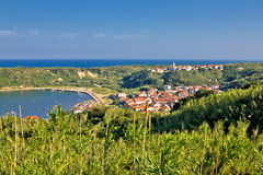Island of Susak village and nature view Royalty Free Stock Photo