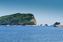 Island of Sveti Nikola, Budva, Montenegro Stock Image