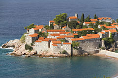 Island of Sveti Stefan Stock Image