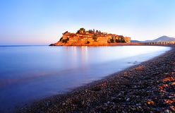 Island of Sveti Stefan Stock Photography