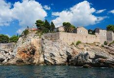 Island of Sveti Stefan, Montenegro, Balkans, Adriatic sea, Europ Royalty Free Stock Photography