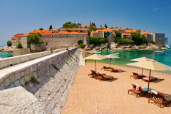 Resort Island of Sveti Stefan Stock Image