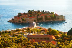 Resort Island of Sveti Stefan Montenegro Royalty Free Stock Photos