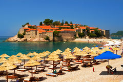 Island of Sveti Stefan Montenegro Stock Photos
