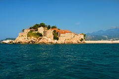 Montenegro Resort Island  Sveti Stefan Royalty Free Stock Photo