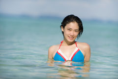 Island swim Royalty Free Stock Image