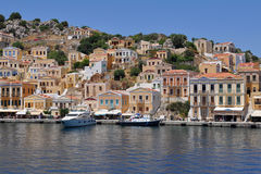 Island Symi,Greece. Island Symi with its colored houses is unique.(UNESCO saved Stock Photo