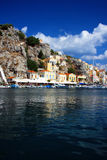Island Symi (Simi).Dodecanesse.Greece.houses Royalty Free Stock Photos
