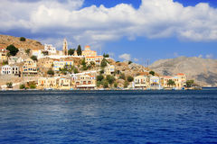 Island Symi (Simi).Greece.Landscape in a sunny day Royalty Free Stock Photography