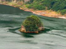 Island within taal volcano caldera lake Stock Image