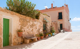 The Island Tabarca for the Spanish coast. Stock Photos