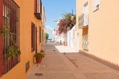 The Island Tabarca for the Spanish coast. Royalty Free Stock Photos