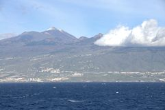 The Island Tenerife seen from Seaside Stock Images