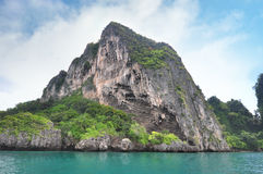 Island in Thailand Krabi has clean beaches, clear waters and b Royalty Free Stock Image