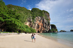 Island in Thailand Krabi has clean beaches, clear waters and b Stock Image