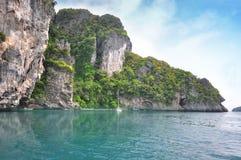 Island in Thailand Krabi has clean beaches Stock Photos