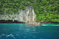 Island in Thailand Krabi has clean beaches Royalty Free Stock Image