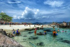 Island in thailand. Tourist visit island Royalty Free Stock Images