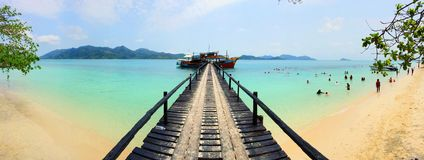Island in Thailand. White sand beach and blue sea in summer Stock Photo