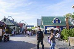 Island themed område - Europa parkerar i rost, Tyskland Arkivfoton