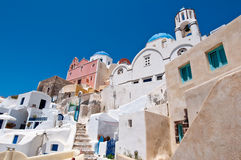 Island of Thera (Santorini) Cyclades, Greece. Stock Photo