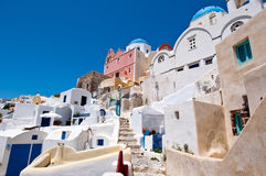 Island of Thera (Santorini) Cyclades, Greece. Royalty Free Stock Photo
