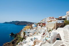 Island of Thera (Santorini) Cyclades, Greece. Royalty Free Stock Images