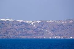 Island Thira (Fira, Santorini) Royalty Free Stock Image