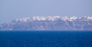 Island Thira (Fira, Santorini) Stock Photo