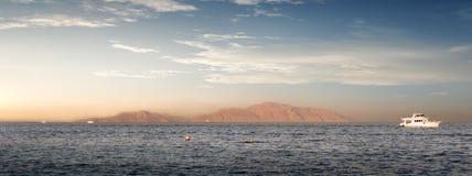 Island Tiran Egypt. Coast of the island Tiran in red sea Royalty Free Stock Photo