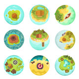 Island top view vector illustration. Stock Images