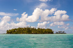 Island in the torquoise water, Royalty Free Stock Image