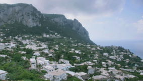 Island Town Capri Italy Cloudy Day stock footage
