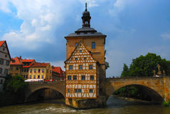 Island town hall, Bamberg, Bavaria Royalty Free Stock Image