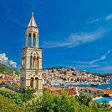 Island town of Hvar waterfront Stock Images